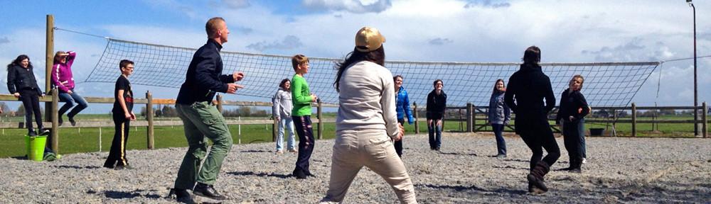 volleybal spelen op Jejujo-land